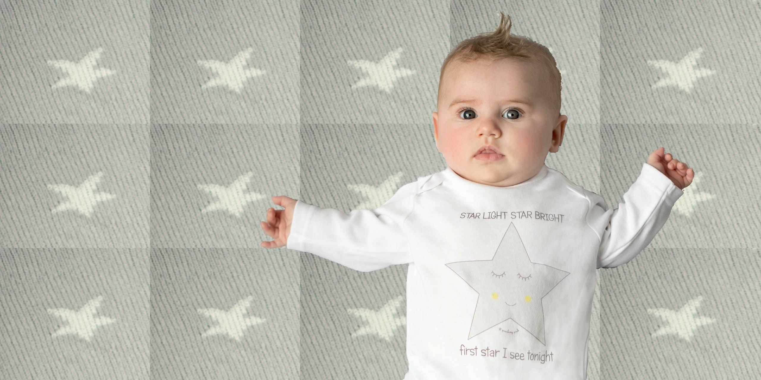Organic cotton baby sleepsuits